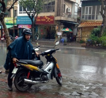with 2-wheeled transport, the weather can be a drag